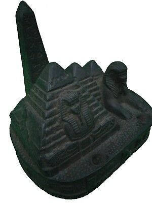 ANCIENT EGYPTIAN ANTIQUE PHARAOH Sphinx Pyramids Giza Figurine Stone Bc