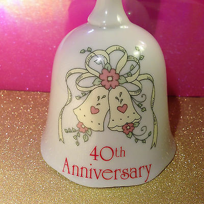 """Treasure Masters, Forever Yours Collection, """"40Th Anniversary"""" 5""""t X 3""""w Bell"""