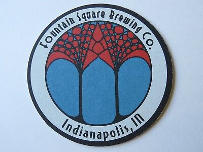 Beer COASTER ~*~ FOUNTAIN SQUARE Brewing Co ~ Indianapolis, INDIANA Breweriana