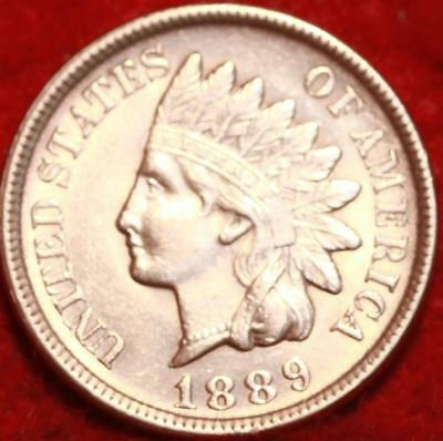 Uncirculated 1889 Red Philadelphia Mint Indian Head Cent