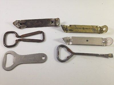 vintage advertising bottle opener lot, coke, Iroquois, strohs and others