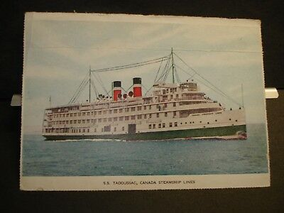 Ship SS TADOUSSAC Naval Cover Unused Post Card CANADA STEAMSHIP LINES CSL