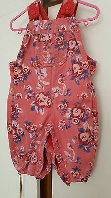 Shorts all in one 3-6 months red denim with rose print*Marks & Spencer*♡♡♡