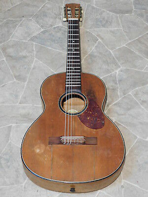 old all solid mahogany PLAYER Performer parlor GUITAR Germany 1930s