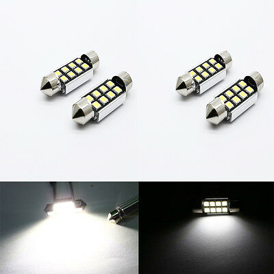 2x LED36mm Pure White Can bus C5W Bulbs 2835 SMD Interior Lights for car w/