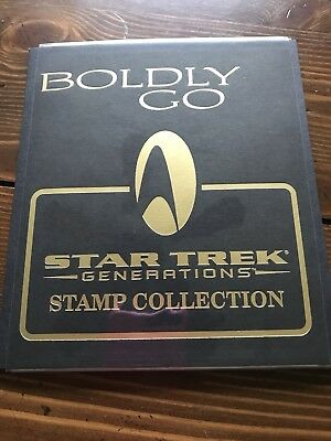 Boldly Go Star Trek Generations Stamp Collection