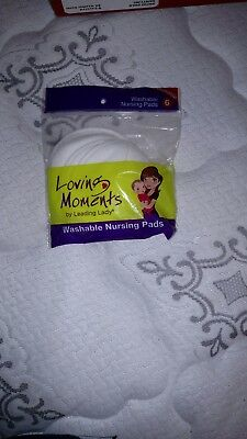 Loving Moments by Leading Lady Washable Nursing Pads 6-Pack L6