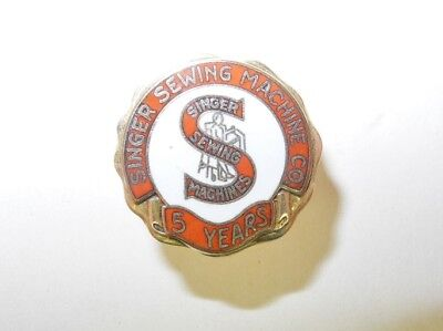 Vintage Singer Sewing Machine Company Unissued 5 Year Service Pin, Unused, Nos