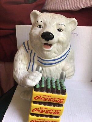 GIBSON - Coca-Cola Polar Bear Delivery of Coke Cases Ceramic Cookie Jar 2001