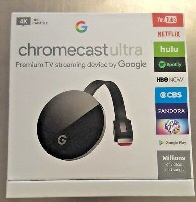 Google Chromecast Ultra 4K HDMI Media Streaming Player Brand new Sealed Black 1