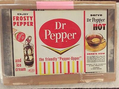 Dr. Pepper Flat Sheet For Flat Top Soda Can
