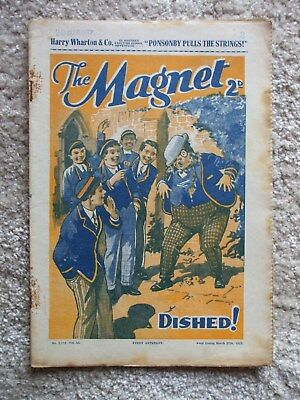 """The Magnet (Billy Bunter) - """"The Ponsonby Pulls The Strings """"  Single Issue 1937"""