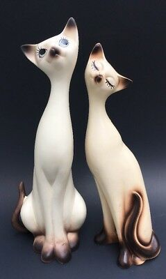 Vintage Napcoware Siamese Cat Figurines Pair Japan