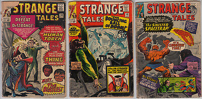 STRANGE TALES #130/131/132 - 3 Comics All FR/GD (1.5) Cents Reading Copies
