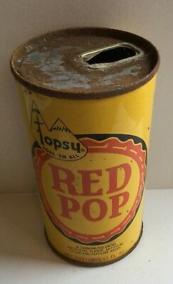 Topsy Red Pop Soda Pop Pull Tab Top Can Pepsi Cola Bottling Co San Antonio Texas