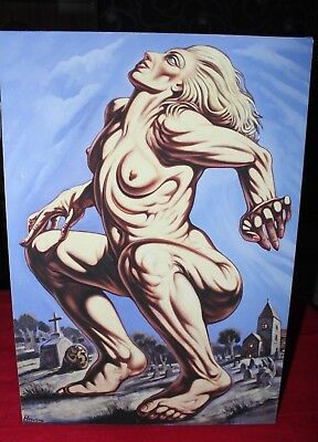 Print Canvas;  Peter Howson - Death of Madonna - Canvas with COA 2/100 Glasgow