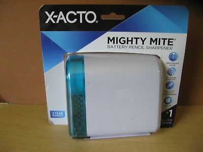 X ACTO Blue Mighty Mite Battery Pencil Sharpener - new