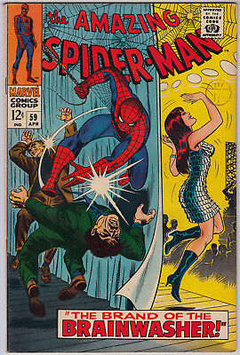 AMAZING SPIDER-MAN #59 FN (6.0) Cents - 1st Mary Jane Cover