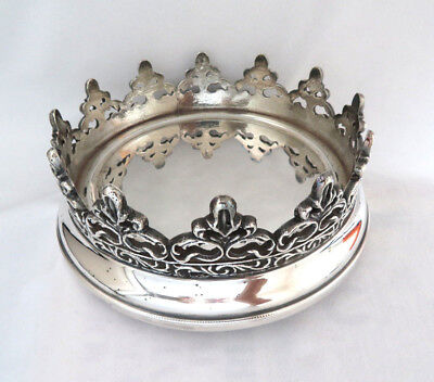 "Towle William Adams Italy Silver Plated ""Kings Crown"" Magnum Wine Bottle Coaster"