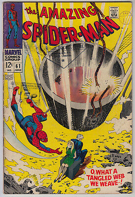 AMAZING SPIDER-MAN #61 VG (4.0) Cents - 1st Gwen Stacy Cover