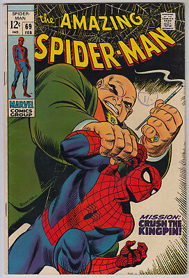 AMAZING SPIDER-MAN #69 FN- (5.5) Cents