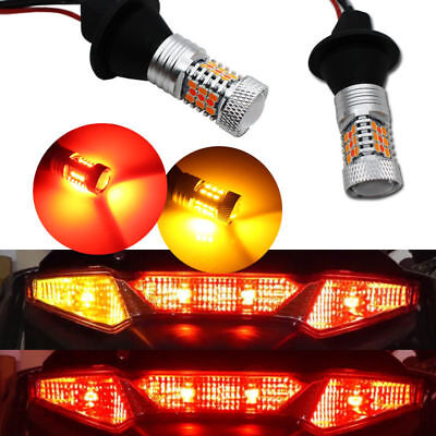 Switchback Red and Amber LED Rear Turn Signal Light Lamps For Honda GL1800 / F6B