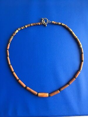 Pre-Columbian Ancient Stone Bead Necklace, Authentic 100%