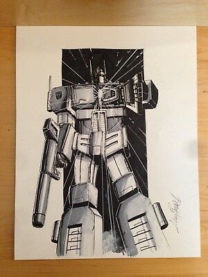 Transformers Optimus Prime Commissioned Drawing (A3) by Livio Ramondelli