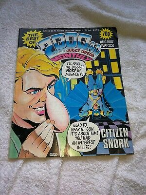 Best Of 2000AD Monthly Issue 23 August 1987 Citizen Snork