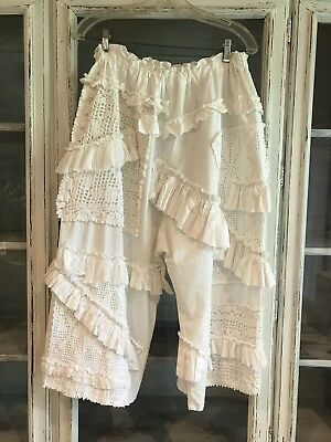 Magnolia Parl Inspired White Bloomers With Ruffles