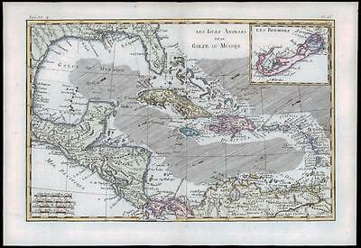 1780 Antique Map GULFE DU MEXIQUE Gulf Mexico BERMUDA WEST INDIES by Bonne (27)