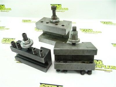 Lot Of 3 Quick Change Turning Facing & Boring Tool Holders Aloris Ca Compatible