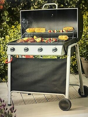 Tesco Barrel 4 Burner Gas BBQ, with Cover (New & Sealed)