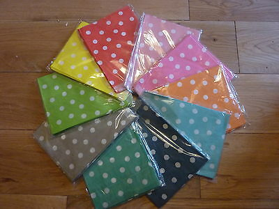 25 x Polka Dot Spotty Paper Sweety / Sweet Wedding Party Bags SAME DAY DISPATCH