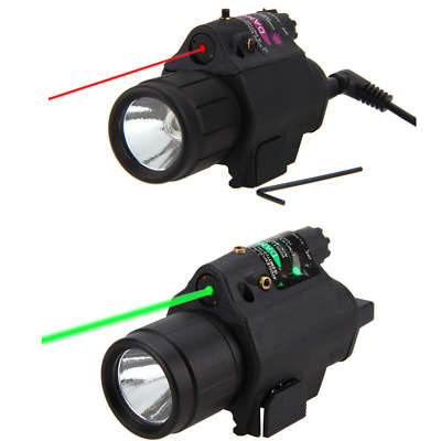 Green/RED Laser Sight Tactical Combo LED Flashlight 20mm Picatinny Rail Mount Te
