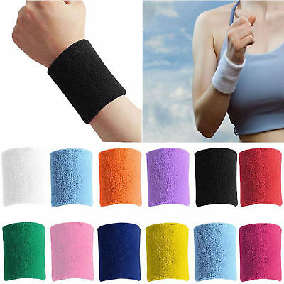 Sports Wrist Sweat Bands Wristbands Unisex 80s Fitness Sweatbands Gym Tennis