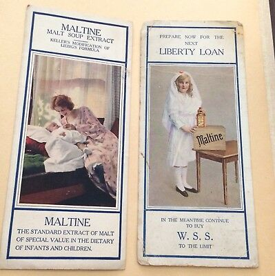 2 MALTINE with VITAMIN CONCENTRATES 1930'sMEDICAL INK BLOTTER