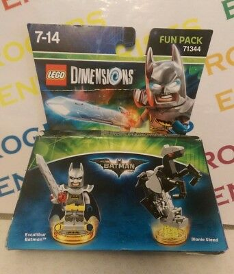 Lego Dimensions Toy Tag Disc Fun Pack Excalibur Batman 71344 Disque Notice Neuf