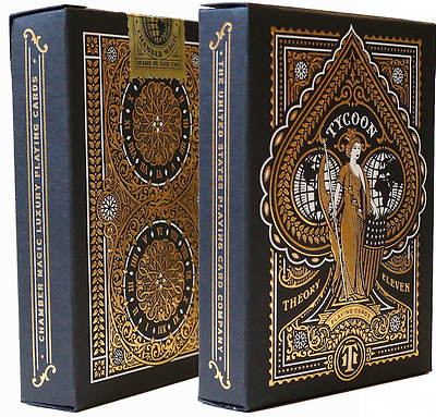 Tycoon Playing Cards Deck (Black) by Theory 11