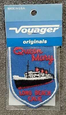 LMH Patch RMS QUEEN MARY British Ocean Liner Cruise Ship LONG BEACH Museum CA