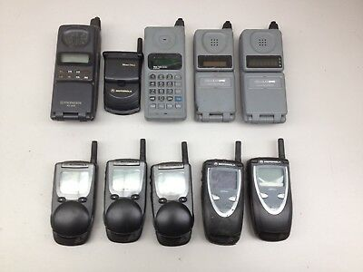 Lot of 10 Vintage Assorted Cell Phones AS IS | PH544