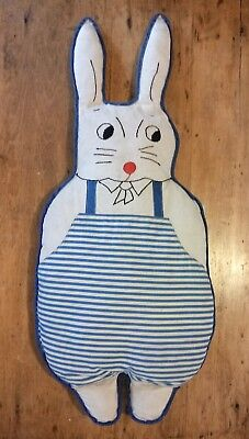 Berea College Kentucky Student Industries Cuddle Toy Doll Rabbit 1930's Folk Art