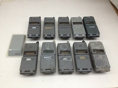Lot of 10 Vintage Motorola MicroTAC series Cell Phones extra battery AS IS PH546