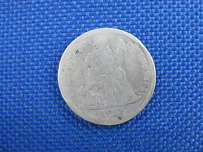 1877 Cc U.s Seated Liberty Dime 10 Cent Coin
