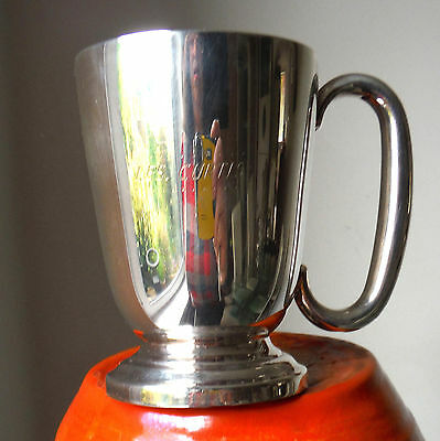 Vintage Silver Plated Half Pint Tankard-Traditional Form