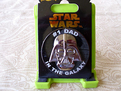 Disney Star Wars * DARTH VADER * #1 DAD IN THE GALAXY * New on Card Trading Pin