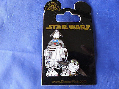 Disney Star Wars * R2-D2 & PORG - MOVING WINGS * New on Card Trading Pin