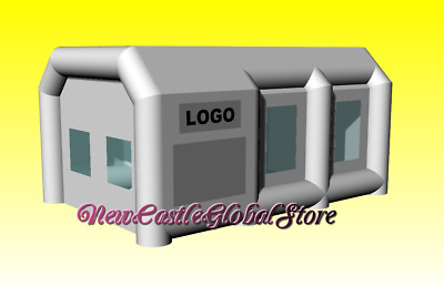 custom made portable 6 m L x 4 m W x 3 m inflatable spray paint booth enclosure