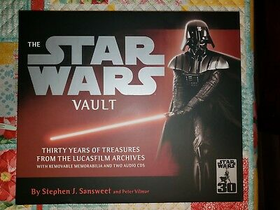 The Star Wars Vault 30th Anniversary Hardcover with Case MINT LQQK!
