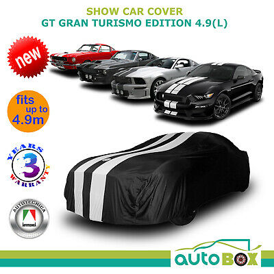 BLACK SHOW CAR COVER GT GRAN TURISMO Ford Mustang 1964-2018 GT V8 Ecoboost 4.9m